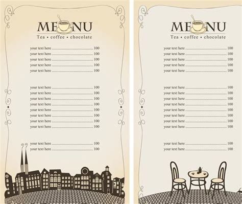 design your own menu template free other design file page 24 newdesignfile