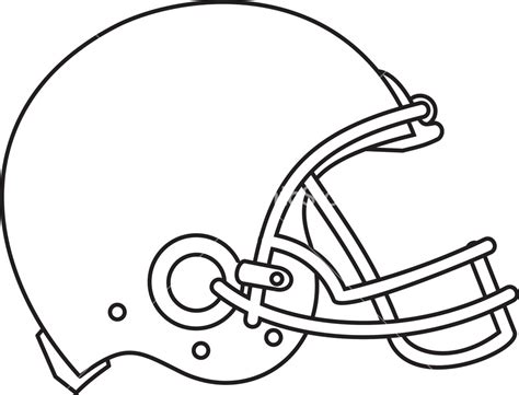 football drawing template american football helmet line drawing stock image