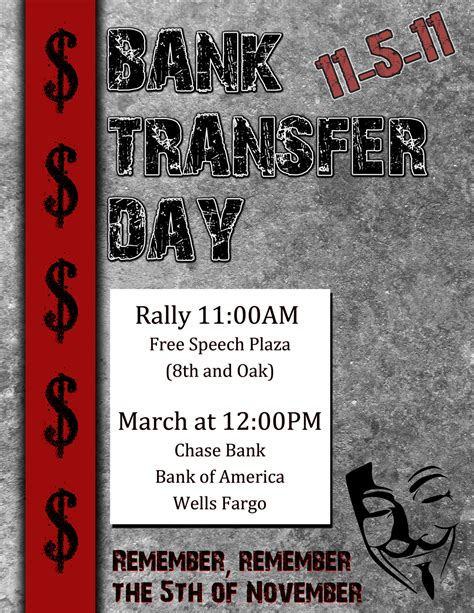 bank day support bank transfer day put your money where your