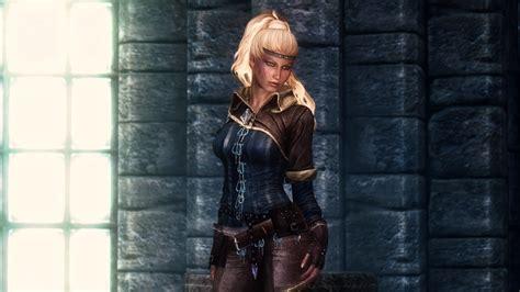 skyrim triss armor mod more triss armor recolours unp at skyrim special edition