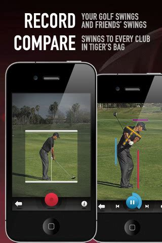 golf swing recorder app analyze your golf swing with tiger woods my swing iphone