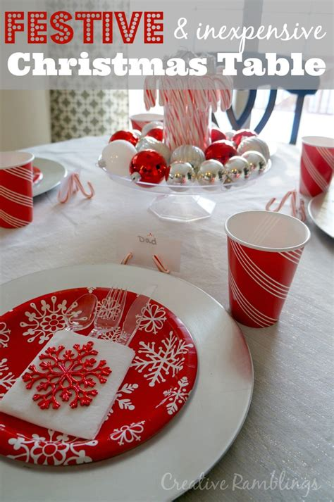 red and silver christmas table decorations festive and inexpensive christmas table creative ramblings