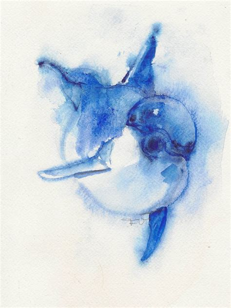 watercolor tattoos dolphin dolphin original watercolor animal ooak dolphins