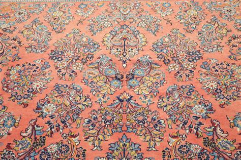 Salmon Colored Area Rugs by New Floral Salmon Color 9x12 Sarouk Area