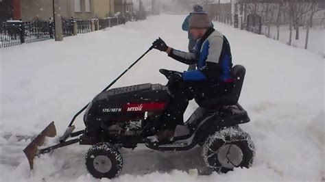 mtd lawn mower with home made snow plow mtd traktorić