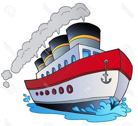 cartoon of boat best hd big cartoon steamship illustration stock vector