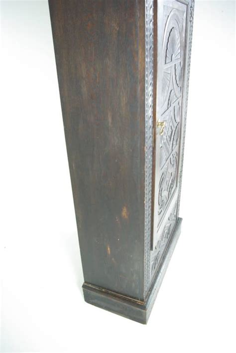 Single Door Wardrobe Closet B391 Heavily Carved Oak Single Door Armoire Wardrobe Closet At 1stdibs