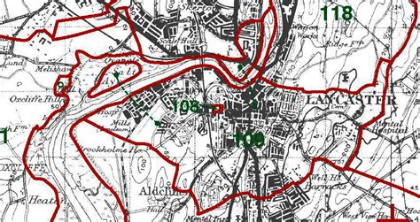 where is lancaster on a map genuki lancaster township boundaries lancashire