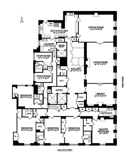 nyc floor plans 720 park avenue 30 000 000 homes of the rich