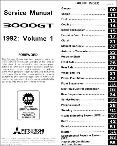 vehicle repair manual 1995 mitsubishi 3000gt on board diagnostic system service manual pdf 1992 mitsubishi 3000gt workshop