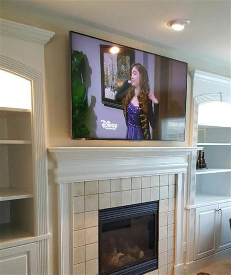 mounting flat screen tv above fireplace tv fireplace mounting and installation services