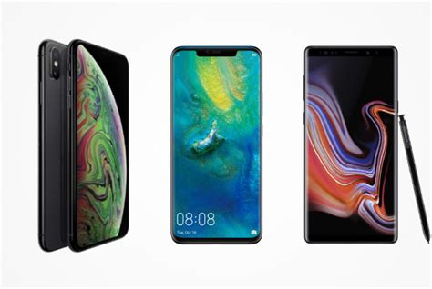 huawei mate 20 pro vs iphone xs vs galaxy note 9