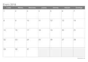 Calendario 2018 Meses Calendario 2018 Para Imprimir Icalendario Net