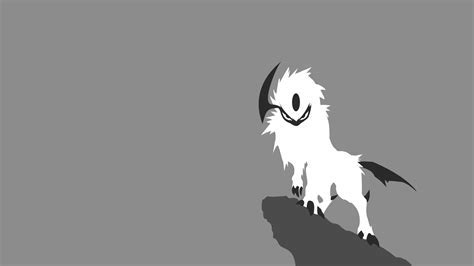 Absol pokemon simple background wallpaper   (43787)