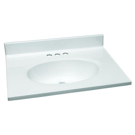 design house vanity top design house 25 in w cultured marble vanity top in white