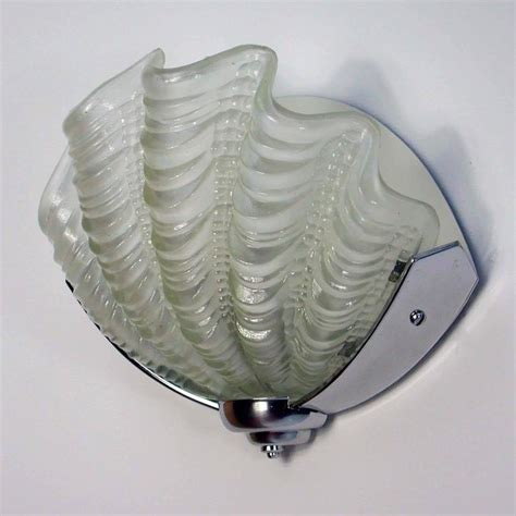 art deco wall light with white glass and mirror panels 1920s art deco french chrome and glass wall light sconce