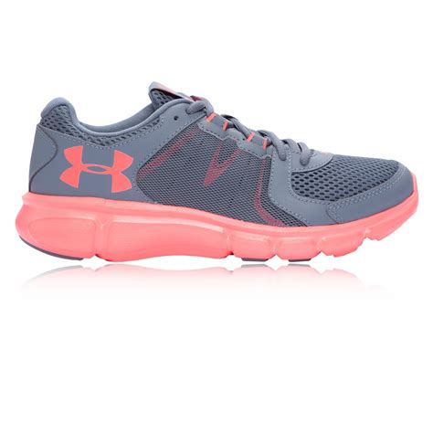 armour sports shoes armour thrill 2 womens grey sneakers running sports