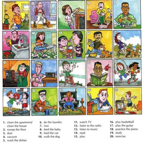 3 Floor House Design by Activities Done Everyday Vocabulary With Pictures
