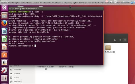 how to install a package in ubuntu how to install curl package deb file in ubuntu 16 04