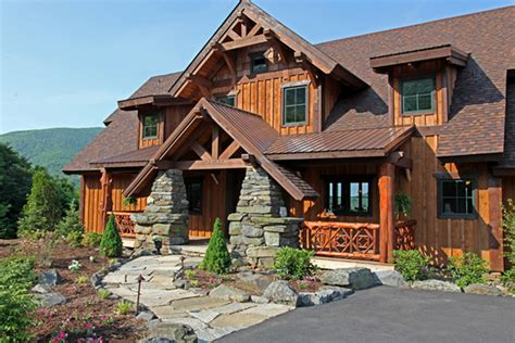 vista lodge 2 story timber frame house plans log home