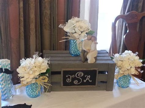 couples wedding shower decorations ideas centerpiece for a rustic couples bridal shower my originals couples bridal