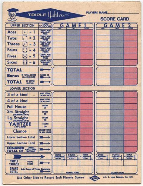 printable triple yahtzee score sheets pdf yahtzee score sheets printable activity shelter