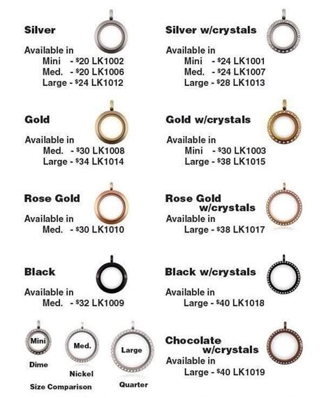 Origami Owl Locket Sizes - origami owl locket sizes prices origami owl jewelry
