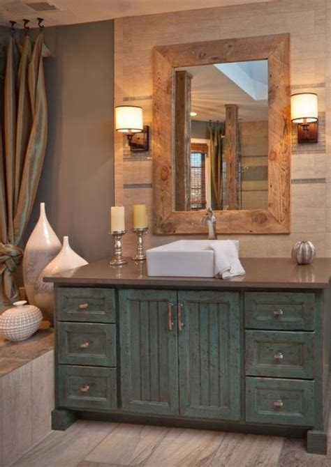 Rustic Style Bathroom Vanities 25 Rustic Style Ideas With Rustic Bathroom Vanities