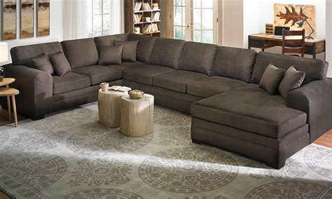 sectional with large ottoman large sofa sectionals oversized sectional sofa