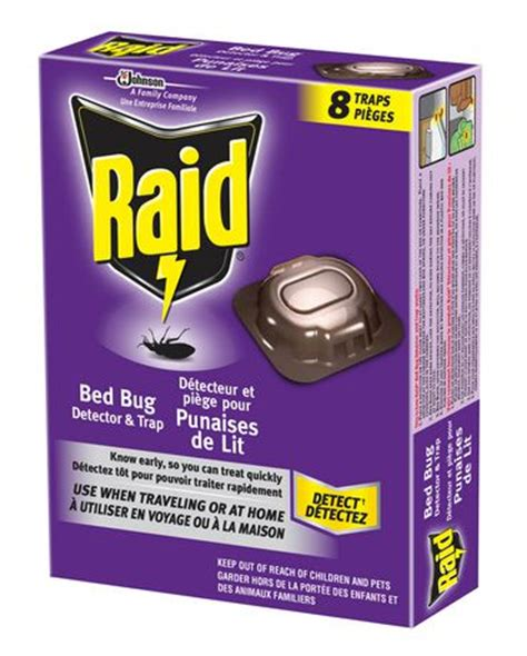 bed bug traps home depot raid 174 bed bug detector and trap walmart ca