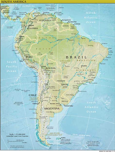 Amérique du Sud Liste et carte de tous les pays d'Amérique du Sud. Tout les pays d'Amérique du