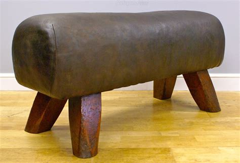 Upholstered Stool Bench Antiques Atlas A 1930 40 S Leather Upholstered Stool Bench