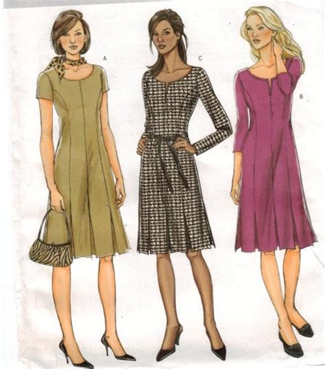 pattern dress casual butterick pattern 4598 career or casual dress size 16 18