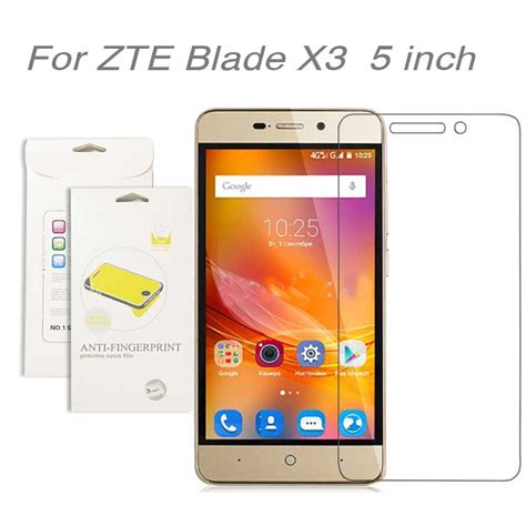 Hp Zte Blade X3 for zte blade x3 5 inch 3pcs lot high clear lcd screen protector screen protective