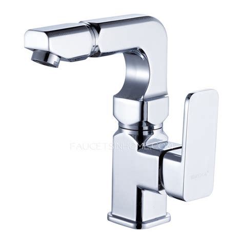 modern kitchen sink faucets modern square shaped rotatable brass bathroom sink faucets