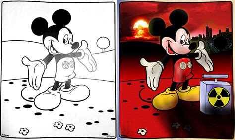 coloring book corruptions goofy 1000 images about omg coloring book corruptions on