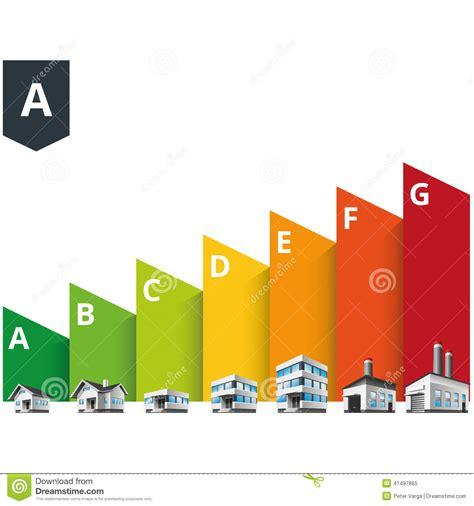 Building Energy Efficiency Classes Label Stock Vector