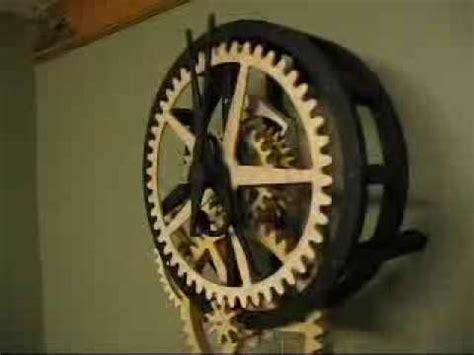 daves wooden gear clock youtube