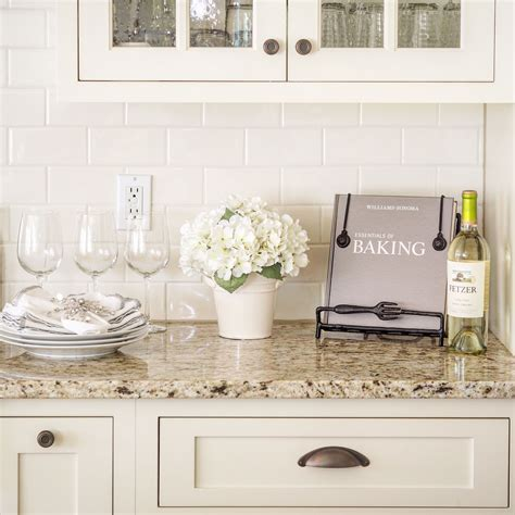 subway tile colors kitchen venetian gold light granite with off white subway tile and