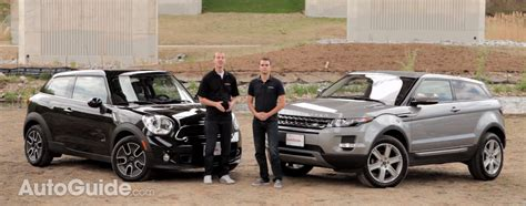mini land rover range rover evoque coupe vs mini cooper s paceman review