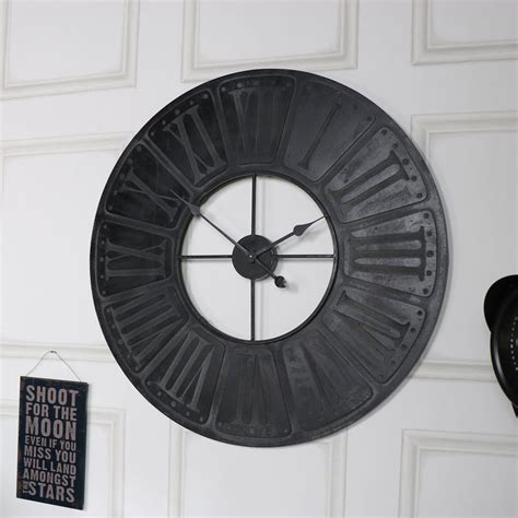 extra large wooden station wall clock melody maison 174 extra large black wooden wall clock melody maison 174