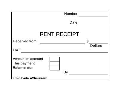 printable rent receipt south africa a set of four identical rent receipts with room to note