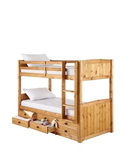 Pine Bunk Bed With Storage Georgie Solid Pine Bunk Bed Frame With Storage Toys Pine Bunk Beds And The