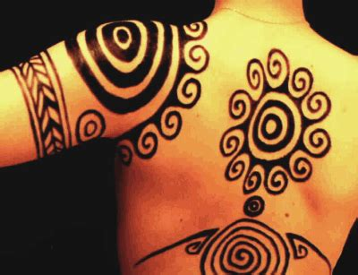 woad tattoo ancient celtic and pictish swirl patterns as