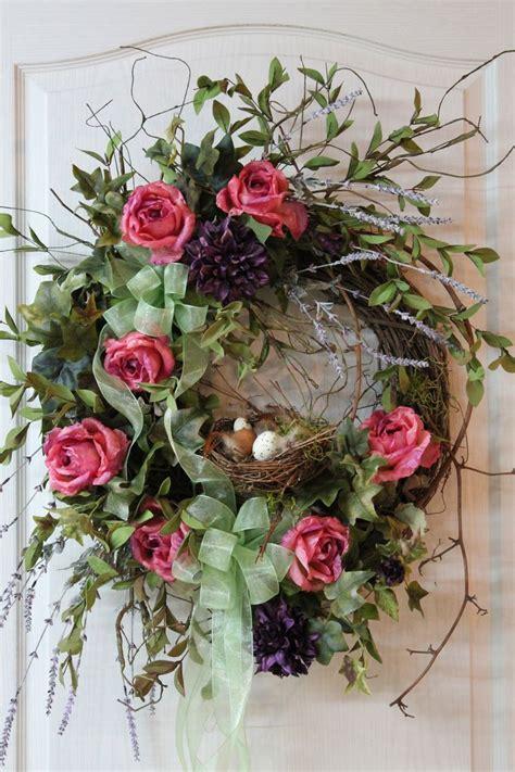 Front Door Wreath Country Wreath Summer Wreath Fall Wreath On Front Door