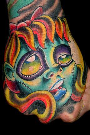 new school zombie girl tattoo zombie girl face tattoo by josh woods tattoonow