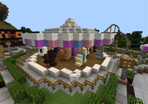 theme park minecraft am land amusement park creation roller coaster