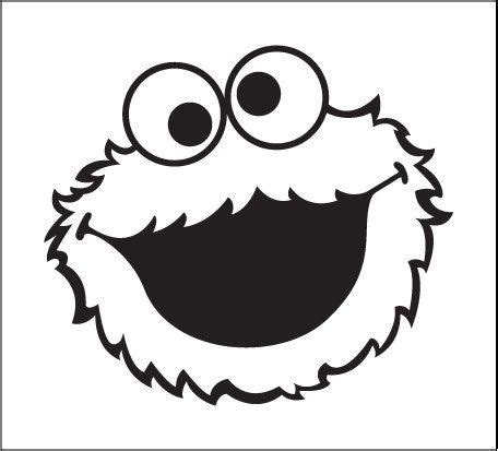 Cookie Monster Aufkleber by Cookie Monster Sesame Street Decal Vinyl Window Bumper