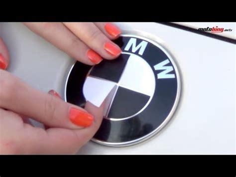 Bmw Logo Aufkleber Schwarz by Emblem Ecken Aufkleber F 252 R Den Bmw In Schwarz Matt Und