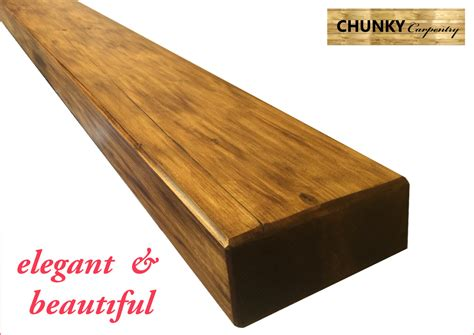 chunky floating shelves reclaimed pine rustic 7cm thick x 22cm